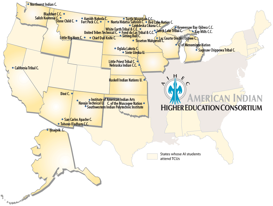 Universities And Colleges In California Map.Aihec Who We Serve