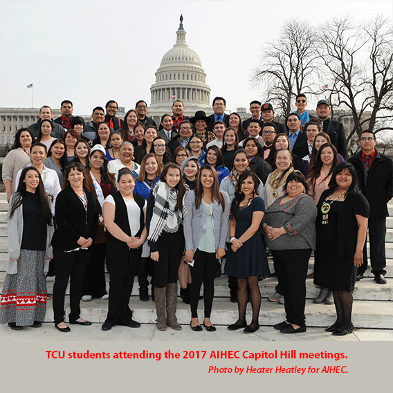 TCU students during 2017 AIHEC Capitol Hill meetings