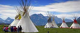 Blackfeet Community College Students at Summer Encampment Glacier National Park