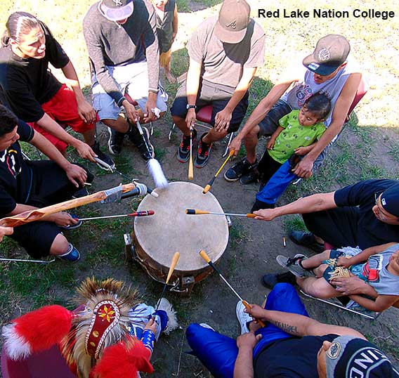 Red Lake Nation College drumming